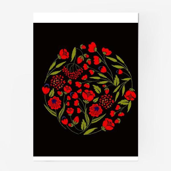 Постер «floral embroidery»