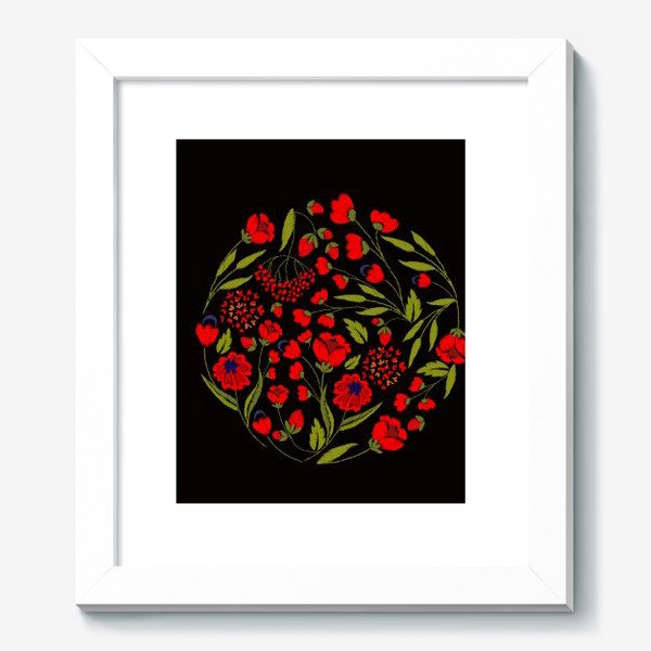 Картина «floral embroidery»