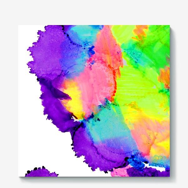Холст «Watercolor Neon Abstract»