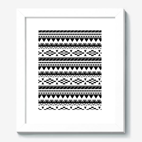 Картина «Черно-белый ацтекский паттерн»