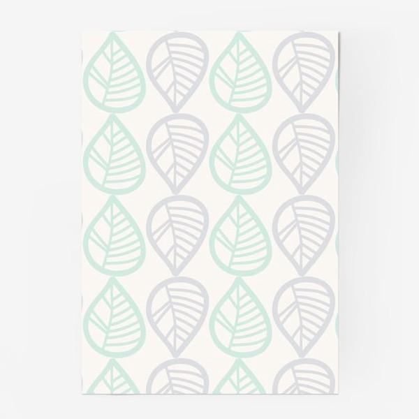 Постер «Паттерн с листьями»