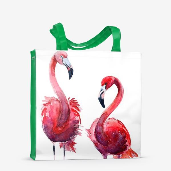 Сумка-шоппер «Розовые фламинго»
