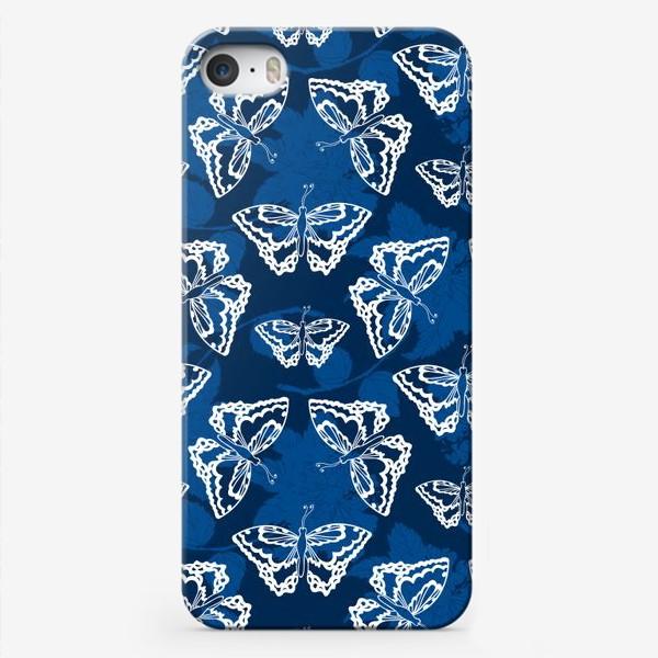 Чехол iPhone «Танец белых бабочек»