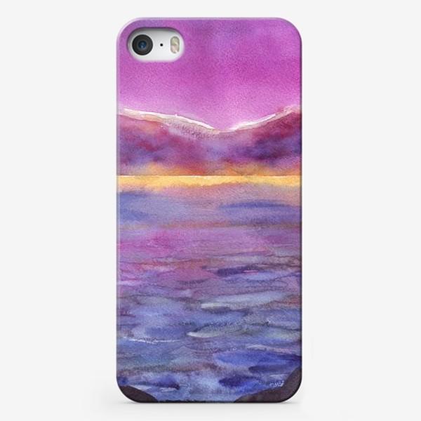 Чехол iPhone «закат на море 2»