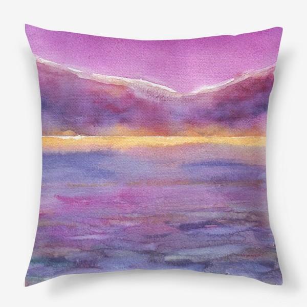 Подушка «закат на море 2»