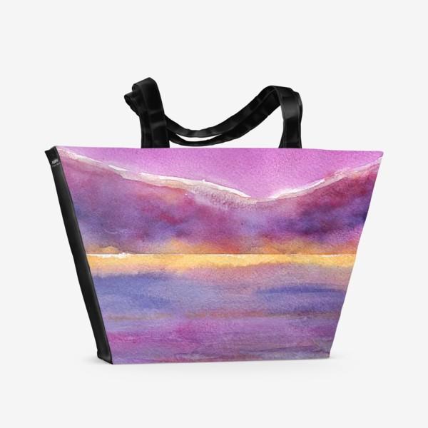 Пляжная сумка «закат на море 2»