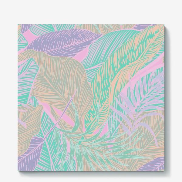 Холст «Pastel tropics»