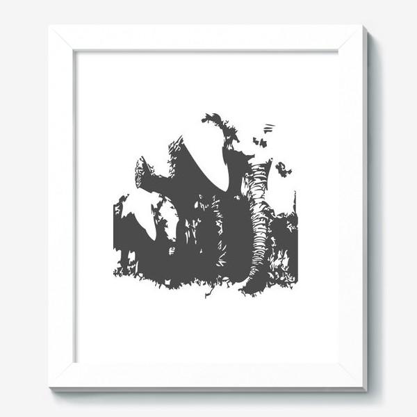 Картина «Принт слониха с детенышем»