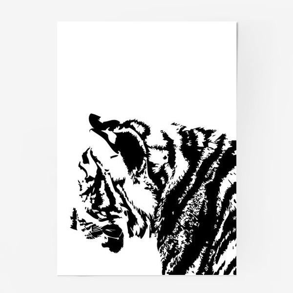 Постер «Принт тигр в стиле графика»