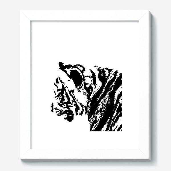 Картина «Принт тигр в стиле графика»