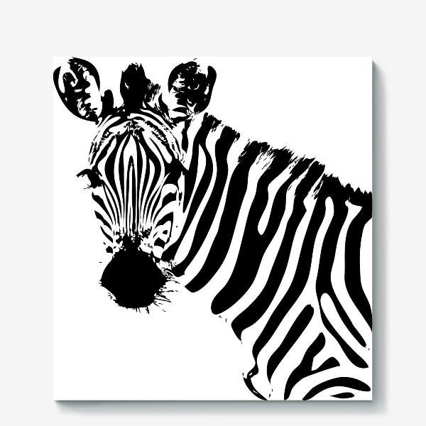 Холст «Паттерн зебра»