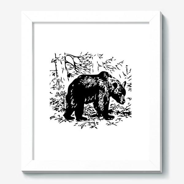 Картина «Принт медведь»