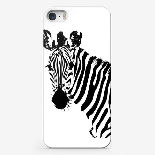 Чехол iPhone «Паттерн зебра»