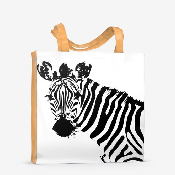 Сумка-шоппер «Паттерн зебра»