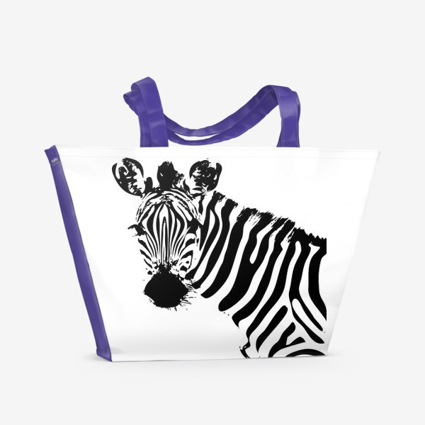 Пляжная сумка «Паттерн зебра»