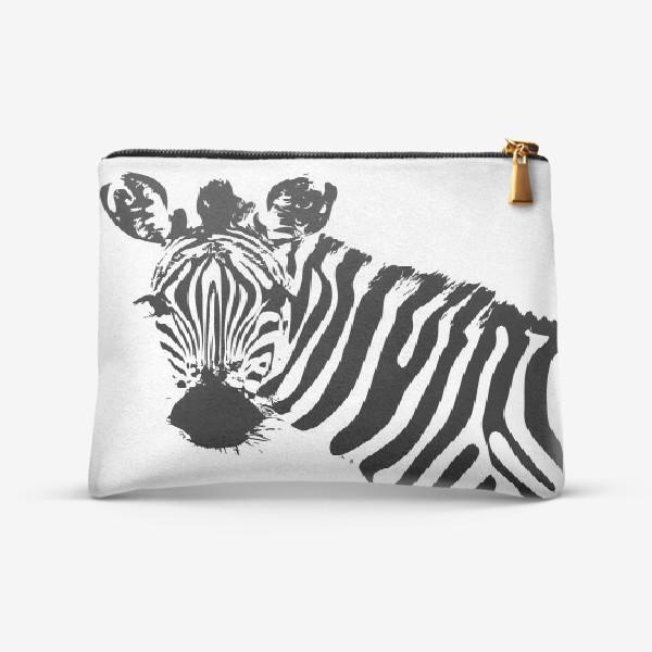 Косметичка «Паттерн зебра»