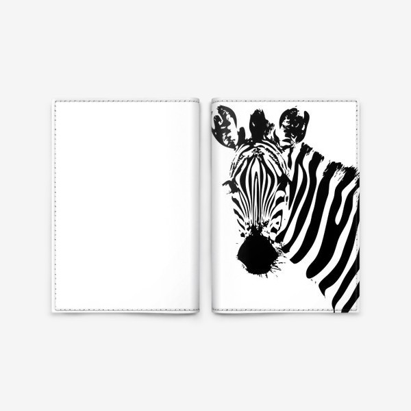 Обложка для паспорта «Паттерн зебра»