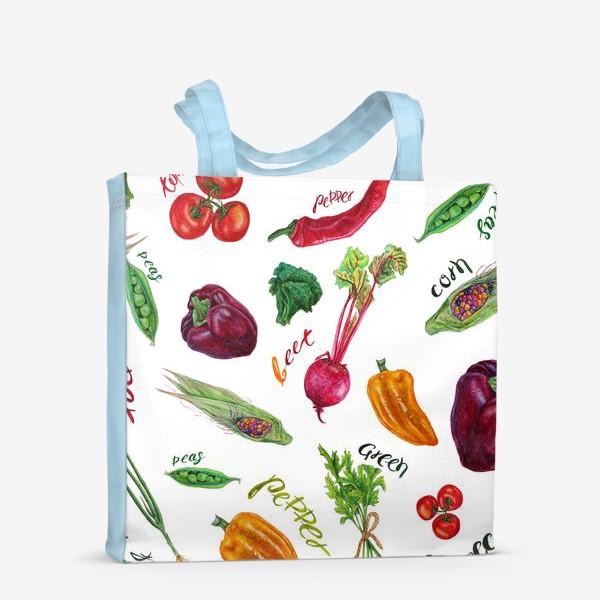 Сумка-шоппер «Акварельные овощи»