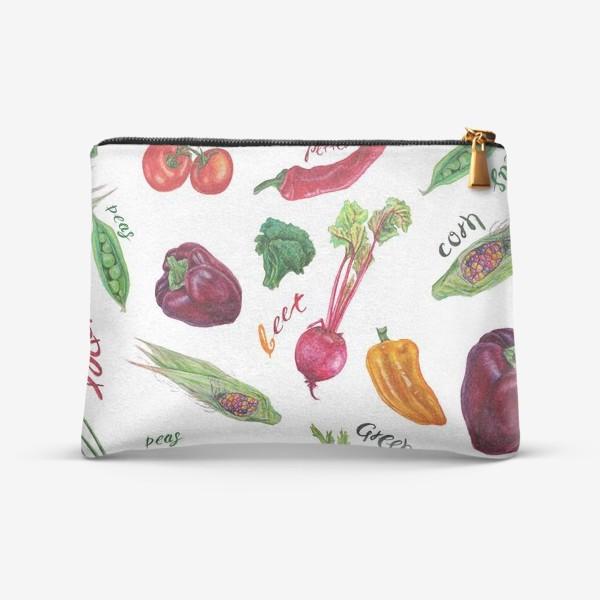 Косметичка «Акварельные овощи»