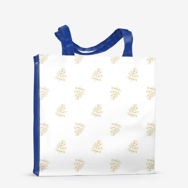 Сумка-шоппер «Листья шиповника. Паттерн»