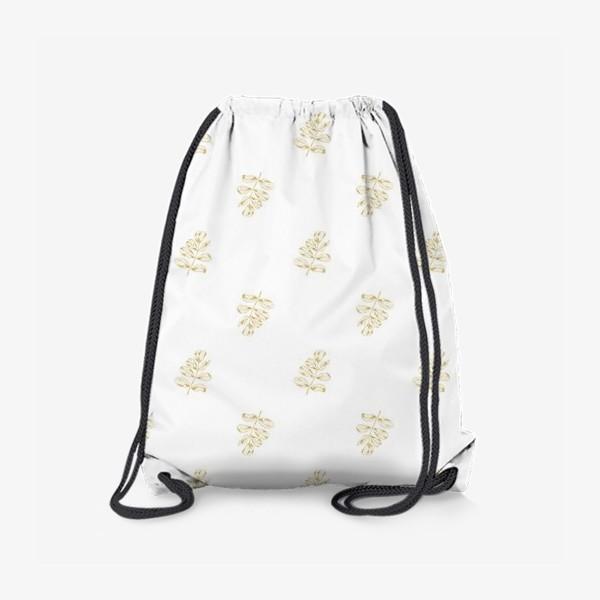 Рюкзак «Листья шиповника. Паттерн»