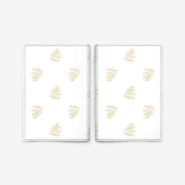 Обложка для паспорта «Листья шиповника. Паттерн»