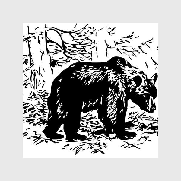 Шторы «Принт медведь»