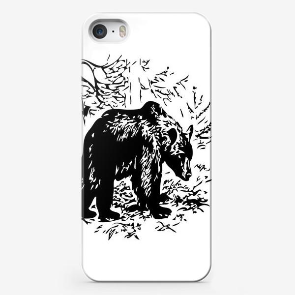 Чехол iPhone «Принт медведь»