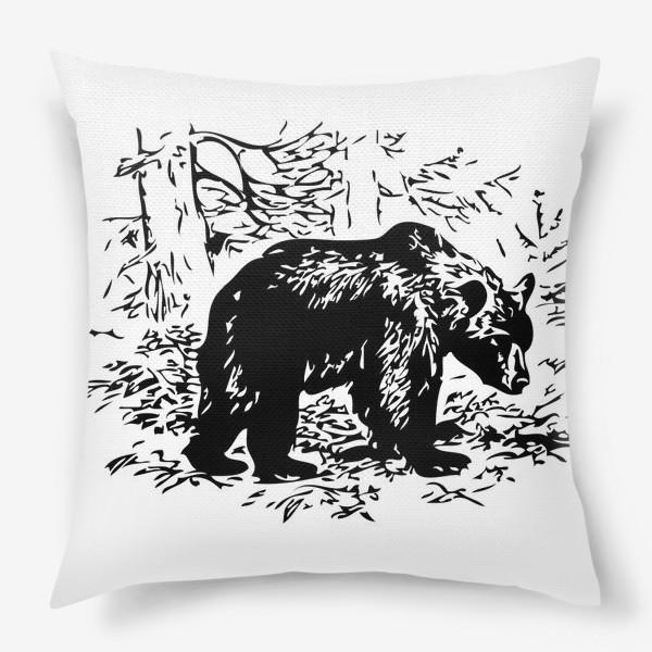 Подушка «Принт медведь»