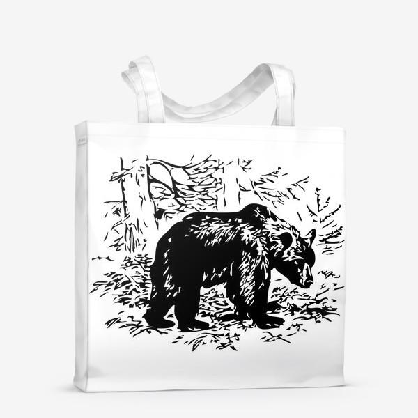 Сумка-шоппер «Принт медведь»