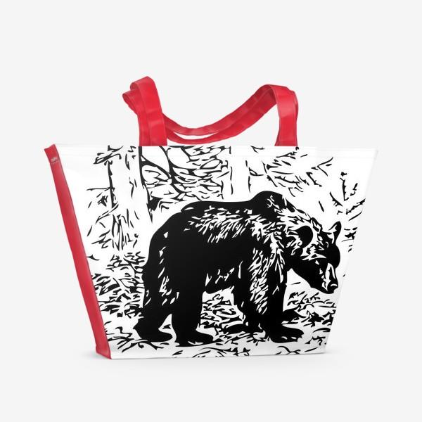 Пляжная сумка «Принт медведь»