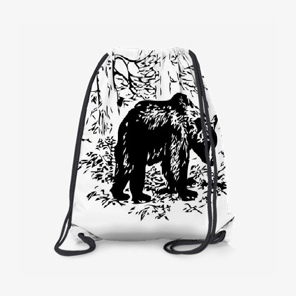 Рюкзак «Принт медведь»