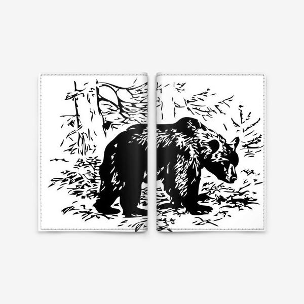 Обложка для паспорта «Принт медведь»
