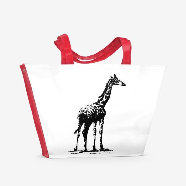Пляжная сумка «Принт жираф»