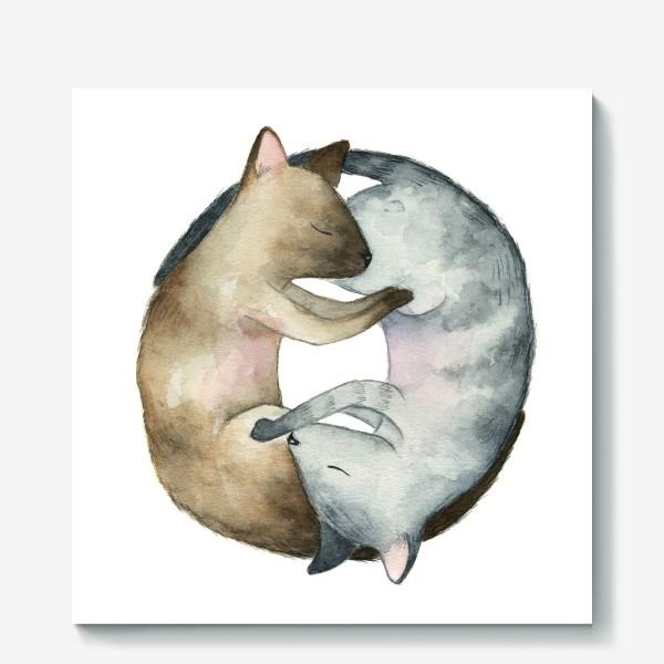 Холст «Спящие коты»