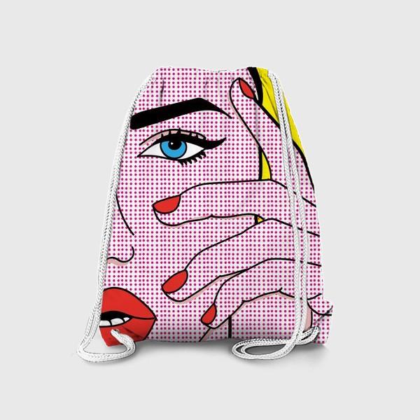 Рюкзак «Девушка в стиле поп-арт»