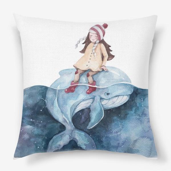 Подушка «девочка на ките»