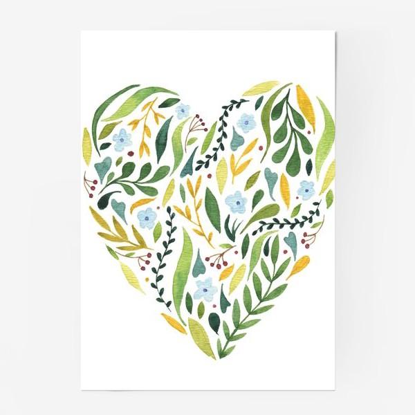 Постер «Цветочное сердце»