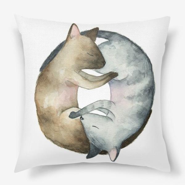 Подушка «Спящие коты»