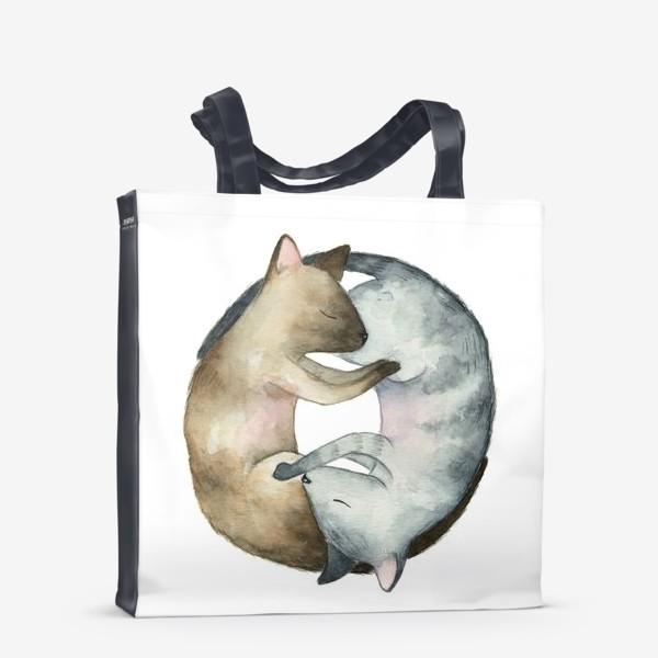 Сумка-шоппер «Спящие коты»