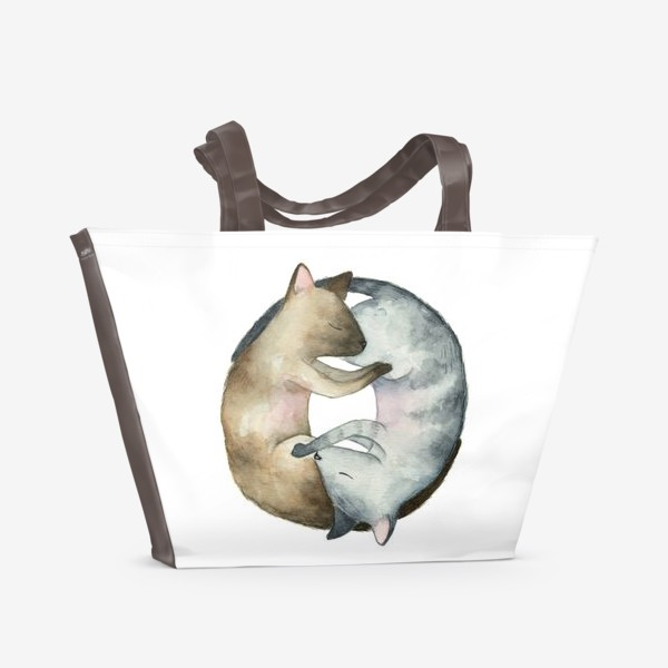 Пляжная сумка «Спящие коты»