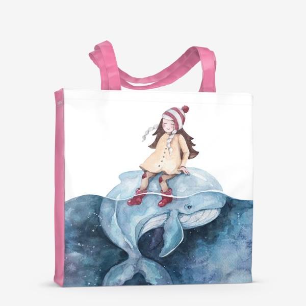 Сумка-шоппер «девочка на ките»