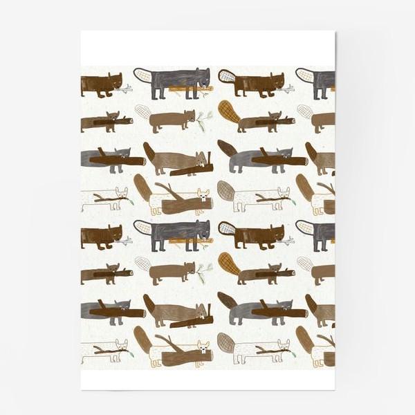 Постер «Бобровый паттерн»
