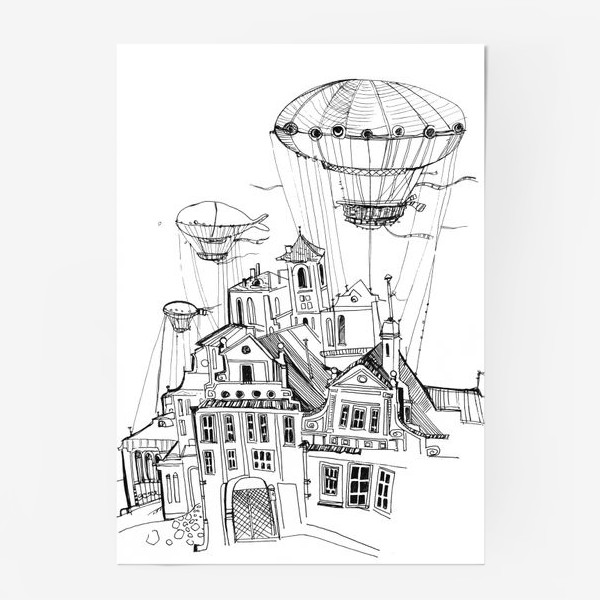 Постер «Цепелиновый городок»