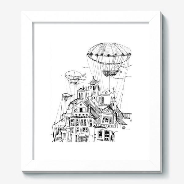Картина «Цепелиновый городок»