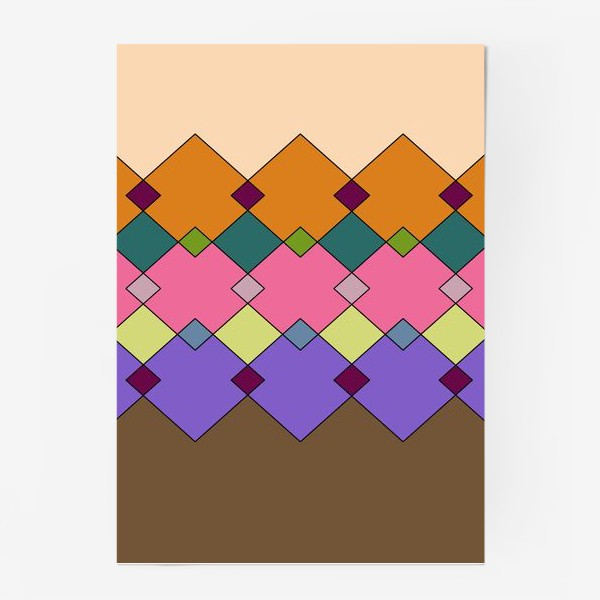 Постер «Цветные горы 1»