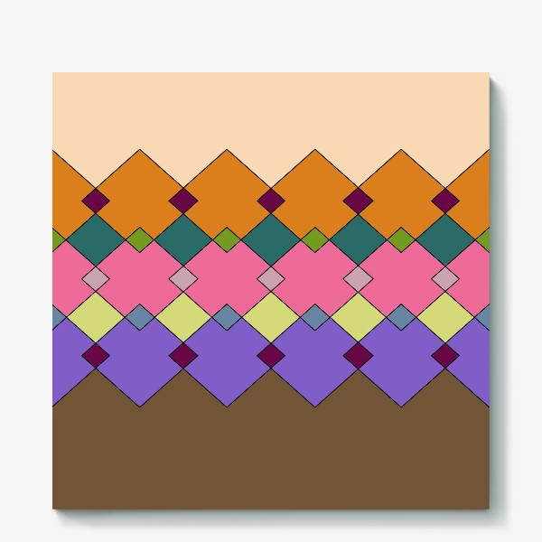 Холст «Цветные горы 1»