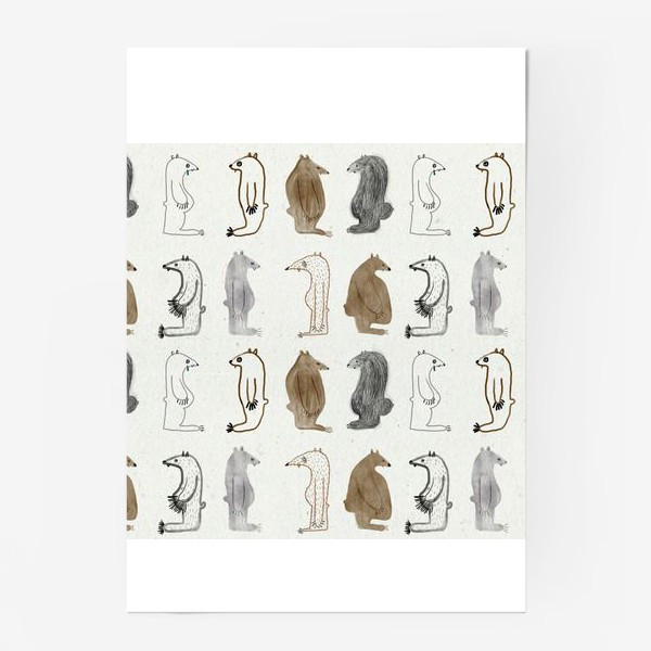 Постер «Много медведей»