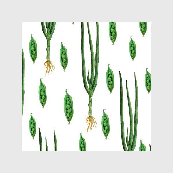 Шторы «Акварельные зеленые овощи»