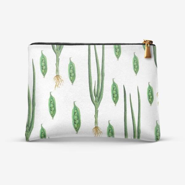 Косметичка «Акварельные зеленые овощи»